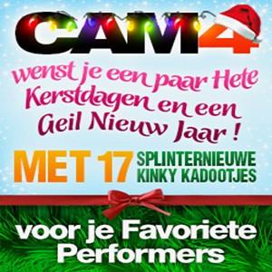 Cam4 wenst je een paar Hete Kerstdagen!