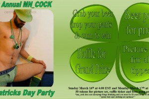MN_COCK'S Saint Patrick's Day Spermafestijn en Give Away‏