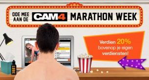 CAM4 Marathon Week; Meld je aan en verdien 20% EXTRA!