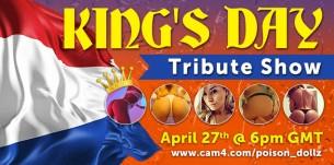 Koningsdag vier je op CAM4! Deze Speciale Show Mag Je Niet Missen!