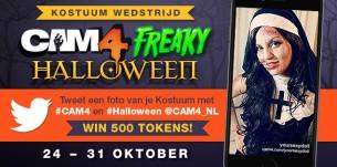 Freaky Halloween Fotowedstrijd op CAM4