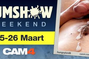 CumShow Weekend Op CAM4 25 en 26 Maart!