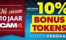 24 Uur Token Uitverkoop!! Vier 10 Jaar CAM4 Met 10% Bonus Tokens!