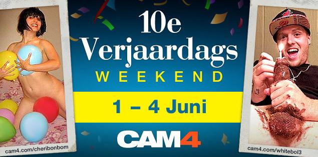 Doe mee met CAM4's 10de Verjaardagsviering!