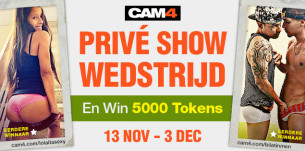 Win GROOTS met CAM4 Privé Shows!