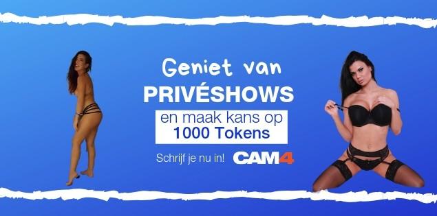 Geniet van privé shows en win wekelijks 1000 tokens!