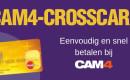 Vraag nu een CAM4 Crosscard aan voor een optimaal betalingsgemak en krijg 250 tokens aan bonus eind augustus!